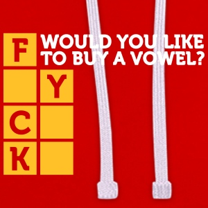 Would You Like To Buy A Vowel? - Contrast Colour Hoodie