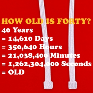 How Old Is 40 Really? - Contrast Colour Hoodie