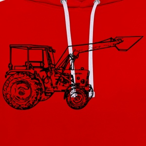 Tractor - Contrast Colour Hoodie