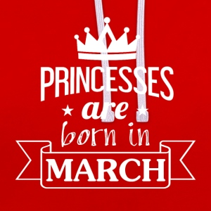 Princesses sont né en mars - Sweat-shirt contraste
