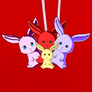 Bunny Team - Contrast Colour Hoodie