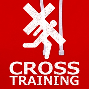 """Cross Training"" (sarkasme) - Kontrast-hættetrøje"