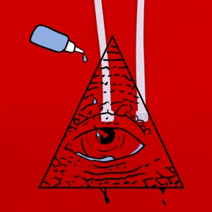 All Seeing Eye - Kontrast-Hoodie