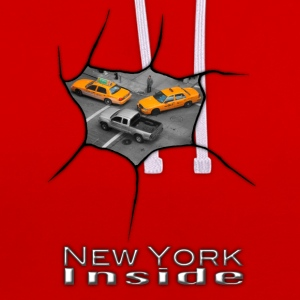 New York Inside - Contrast Colour Hoodie