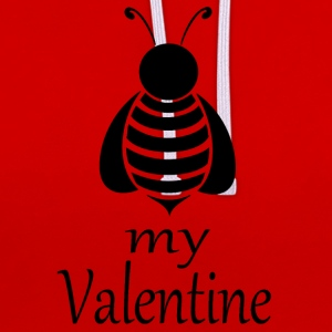Bee my Valentine - Sweat-shirt contraste