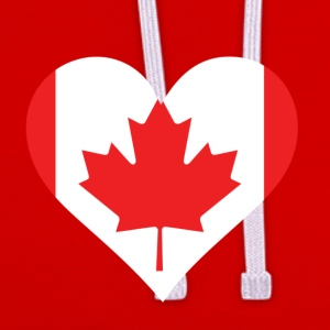 A Heart For Canada - Contrast Colour Hoodie