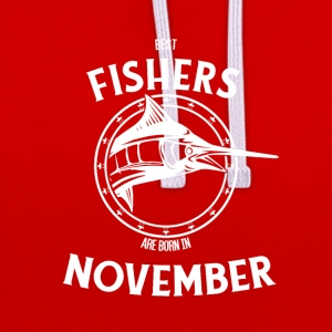 Present for fishers born in November - Contrast Colour Hoodie