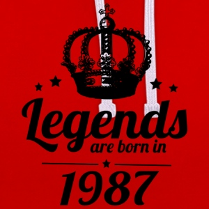 Legends 1987 - Contrast Colour Hoodie