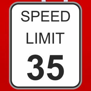 Road sign speed limit 35 - Contrast Colour Hoodie