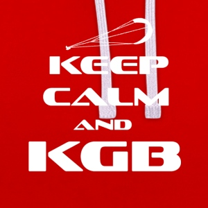 KITESURFING - KEEP CALM AND KGB - Kontrast-Hoodie