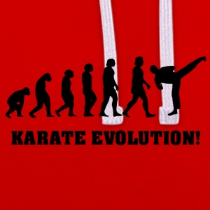 Karate evolution - Contrast Colour Hoodie