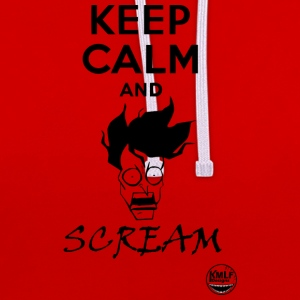 Keep calm and scream - Sweat-shirt contraste