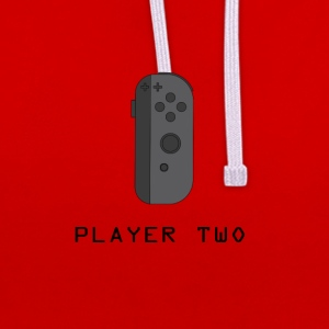 ¿Ready Player Two? - Sudadera con capucha en contraste