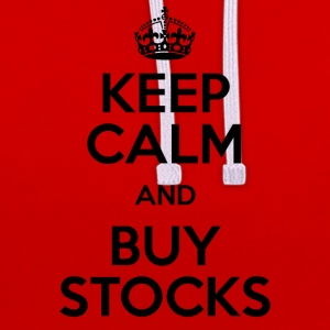 KEEP CALM AND BUY STOCKS - Kontrast-Hoodie