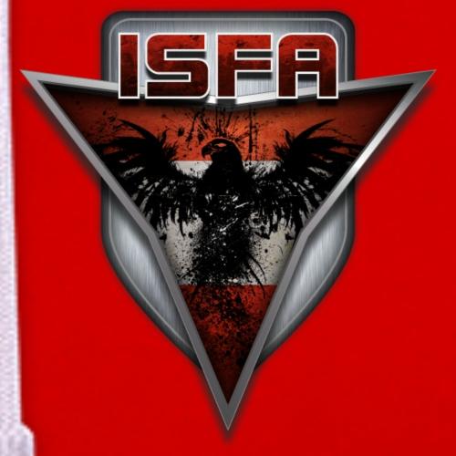 isfa logo druck1 - Kontrast-Hoodie