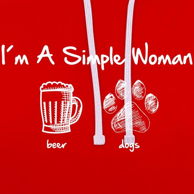 Vorschau: simple woman beer white - Kontrast-Hoodie