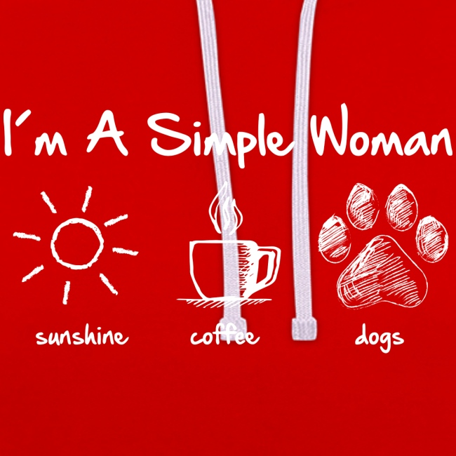 simple woman dog white