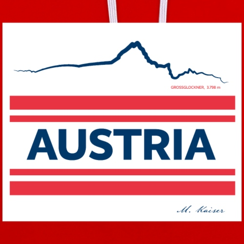 M Kaiser Austria - Kontrast-Hoodie