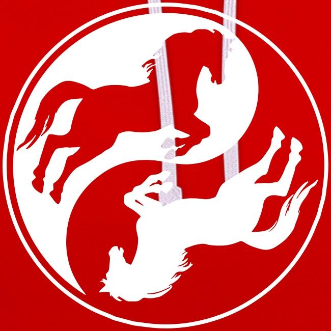 Vorschau: Horse Ying Yang - Kontrast-Hoodie