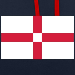 National Flag Of England - Contrast Colour Hoodie