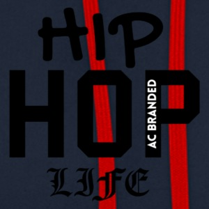 Hip Hop Life AC BRANDED - Contrast Colour Hoodie