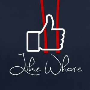 Like whore white - Kontrast-hettegenser