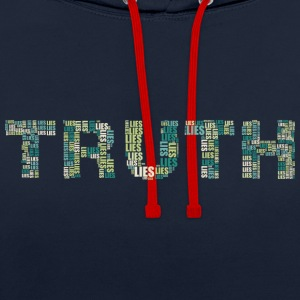TRUTH OR LIES? - Contrast Colour Hoodie