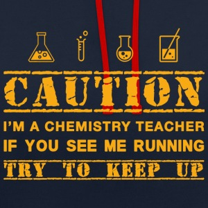 Attention: professeur de chimie - Sweat-shirt contraste