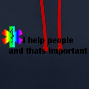 I help people - Contrast Colour Hoodie