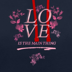 pray love roses pray jesus kirchentag church chri - Contrast Colour Hoodie