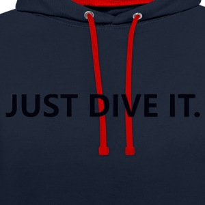 just dive it - Contrast Colour Hoodie