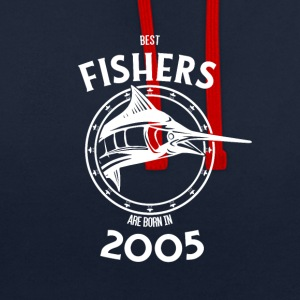 Present for fishers born in 2005 - Contrast Colour Hoodie