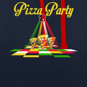 pizza Party - Sudadera con capucha en contraste
