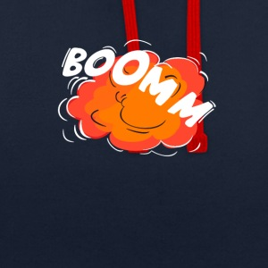boomm crashing sizzling bang comic - Contrast Colour Hoodie