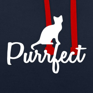Cats are perfect - gift idea - Contrast Colour Hoodie
