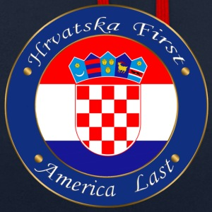 Hrvatska first - Contrast Colour Hoodie