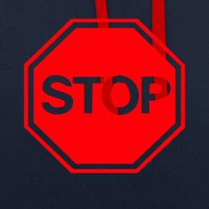 Stop - Contrast Colour Hoodie