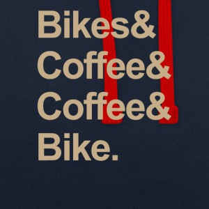BIKE & COFFEE - Kontrast-hettegenser