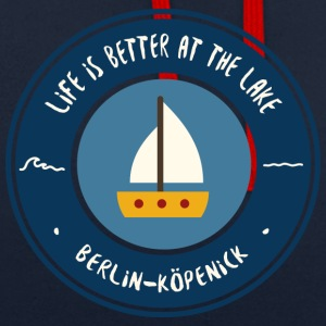 LIFE IS BETTER AT THE LAKE | Koepenick - Contrast Colour Hoodie