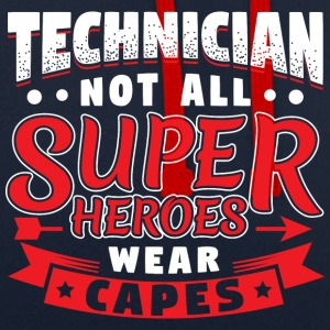 NOT ALL SUPERHEROES WEAR CAPS - TECHNICIAN - Contrast Colour Hoodie