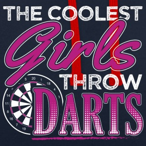 THE COOLEST GIRLS THROW DARTS - Contrast Colour Hoodie