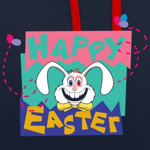 Easter Happy Easter Bunny - Contrast Colour Hoodie