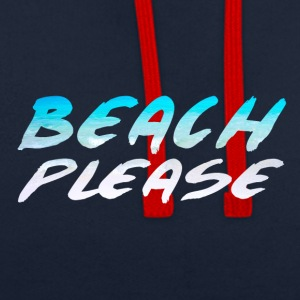 BEACH PLEASE - Contrast Colour Hoodie