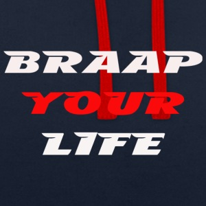 Braapyourlife équipage - Sweat-shirt contraste