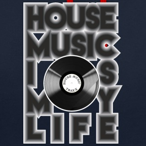 House Music est ma vie - Sweat-shirt contraste