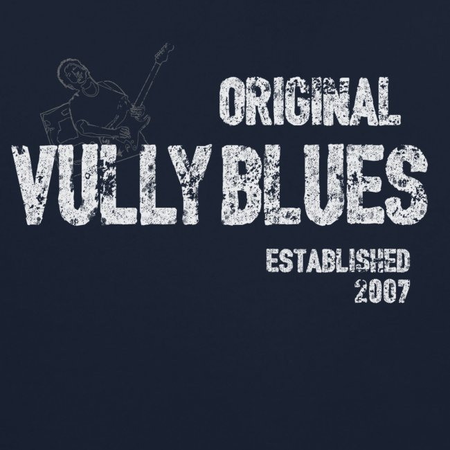 Guitare poitrine / Vully Blues Original blanc dos