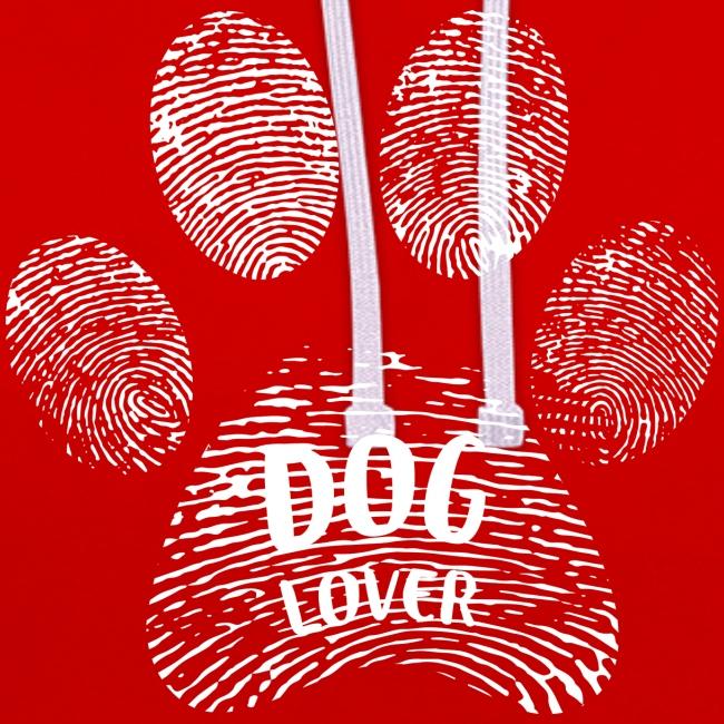 Vorschau: dog lover paw - Kontrast-Hoodie