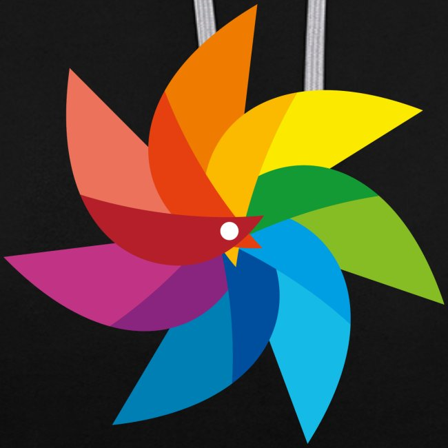 bunte Windmühle Kinderspielzeug Regenbogen Sommer