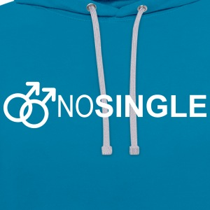 NO SINGLE - Contrast Colour Hoodie