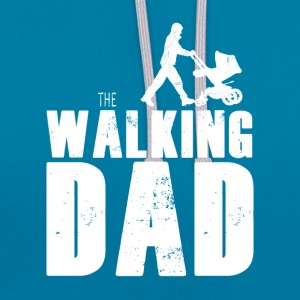 The Walking Dad - Kontrast-Hoodie